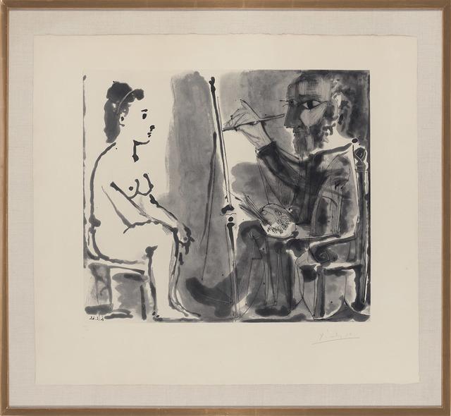 Pablo Picasso, 'Le Peintre Et Son Modèle (B. 1143)', 1963, Print, Aquatint and drypoint, on Richard de Bas paper, Doyle