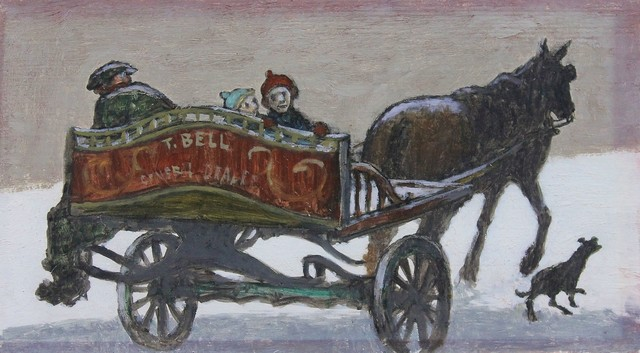 , 'Catching a ride on horse and cart,' , Castlegate House Gallery
