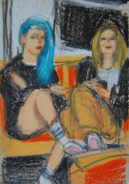 , 'Teenagers with Blue Hair and Nose Chain,' 2016, Ground Floor Gallery