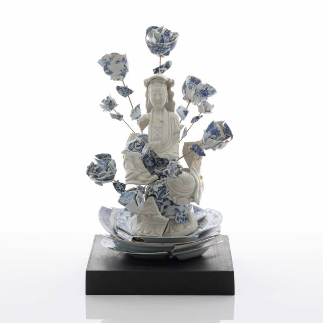 Bouke de Vries, 'Fragmented Guan Yin with Flowers', 2017, Sculpture, 18th & 19th century Chinese porcelain fragments and mixed media, Adrian Sassoon