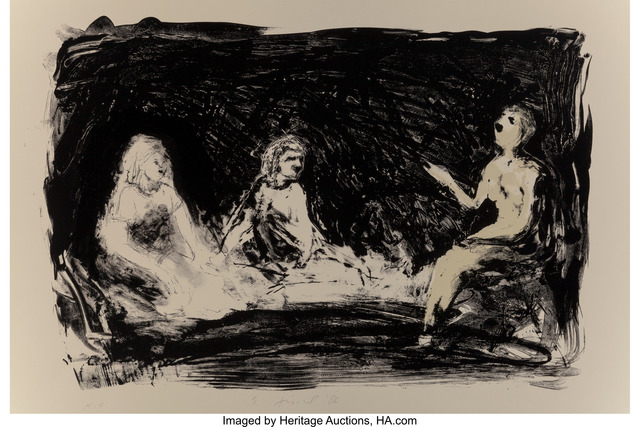 Eric Fischl, 'Annie, Gwen, Lilly, Pam, and Tulip (Three seated women)', 1986, Heritage Auctions