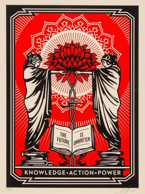 Shepard Fairey, 'Knowledge + Action', 2018, Heritage Auctions