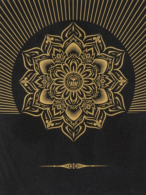 Shepard Fairey, 'Obey Lotus Diamond (Black & Gold)', 2013, Forum Auctions