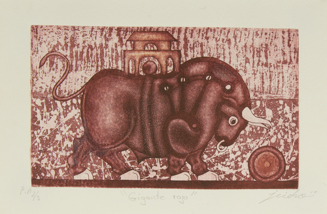 Isidro Fabián, 'Gigante Rojo', Bernardini Art Gallery & Auction House