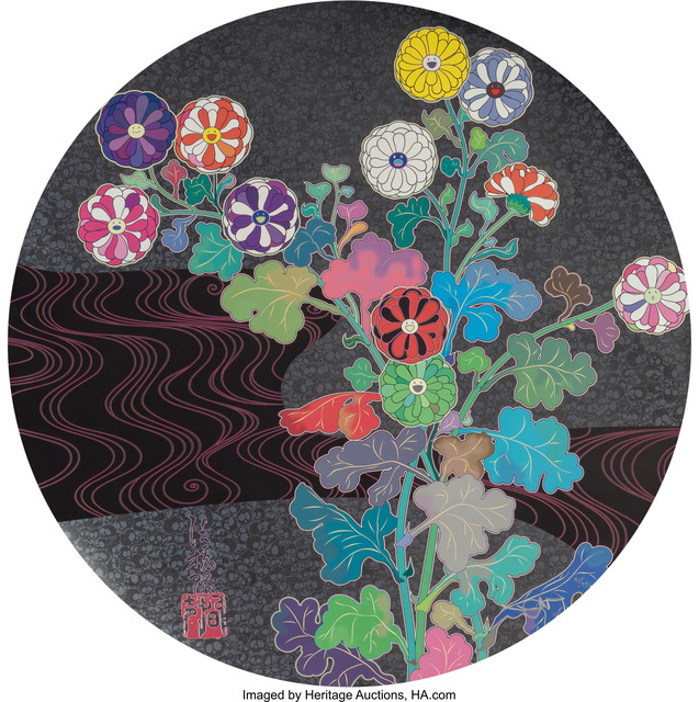 Takashi Murakami, 'Kansei Korin Gold', 2014, Print, Offset lithograph in colors on smooth wove paper, Heritage Auctions