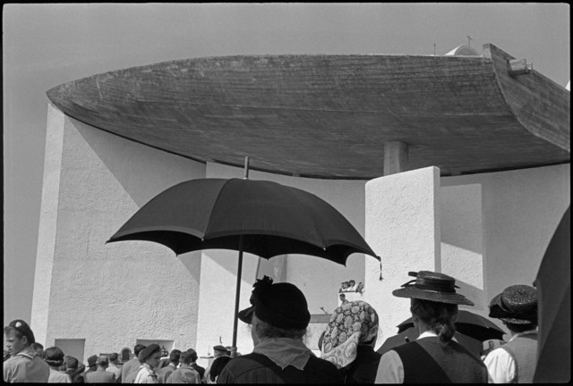 , 'FRANCE. Inauguration of the chapel of Notre-Dame du Haut, built by LE CORBUSIER.,' 1955, Magnum Photos
