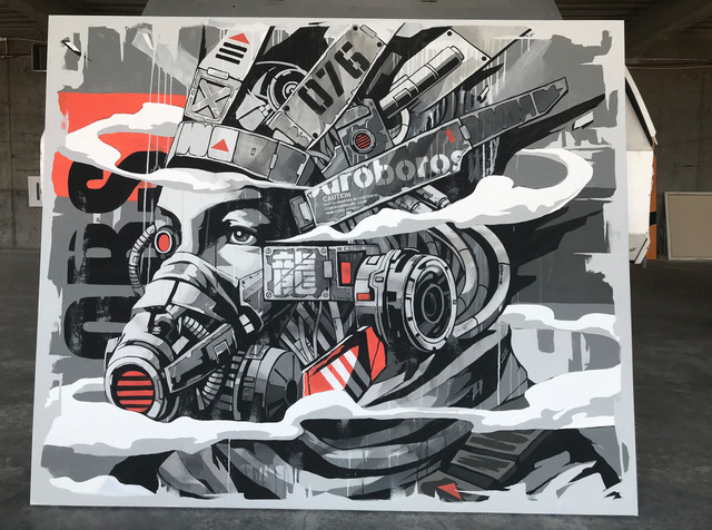 DRAGON76, 'OBS', 2019, The Compound Gallery