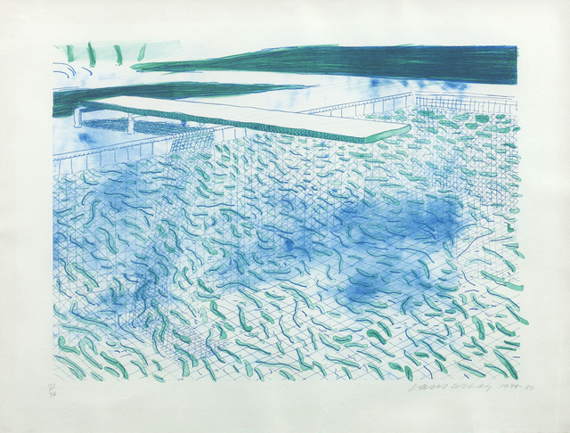 David Hockney, 'Lithograph of Water made of Lines and a green Wash', 1978-1980, ARCHEUS/POST-MODERN