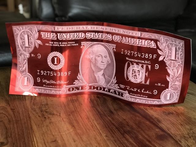 Karl Lagasse, 'One Dollar - Red', 2018, Design by Jaler