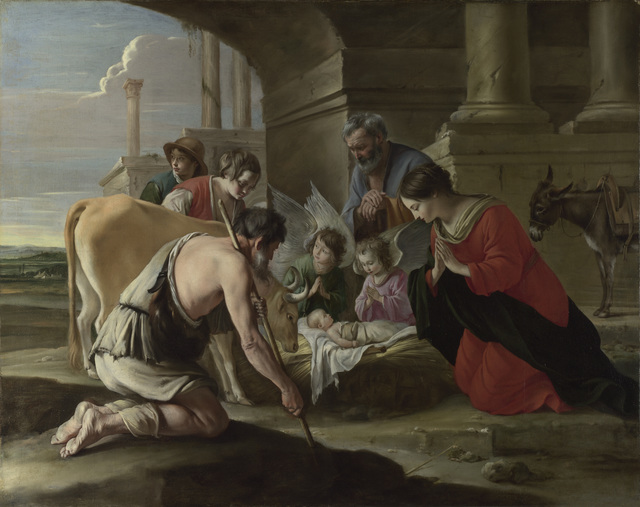 , 'The Adoration of the Shepherds,' ca. 1635, Legion of Honor