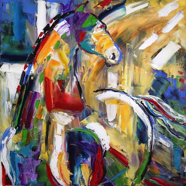 Laurie Pace Original Horse Painting Sunbeam Love Colorful Equine Art Modern Western Art 2017 Artsy