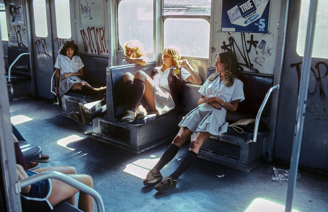 , 'New York Subway, Schoolgirls on the A train to Far Rockaway, Queens,' 1981, CHRISTOPHE GUYE GALERIE