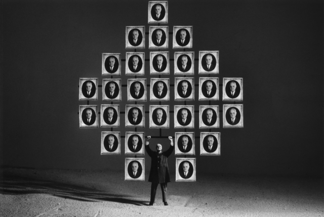 Gilbert Garcin, '53 - Le paon – The peacock', 1997, Photography, Gelatin silver print, Lisa Sette Gallery