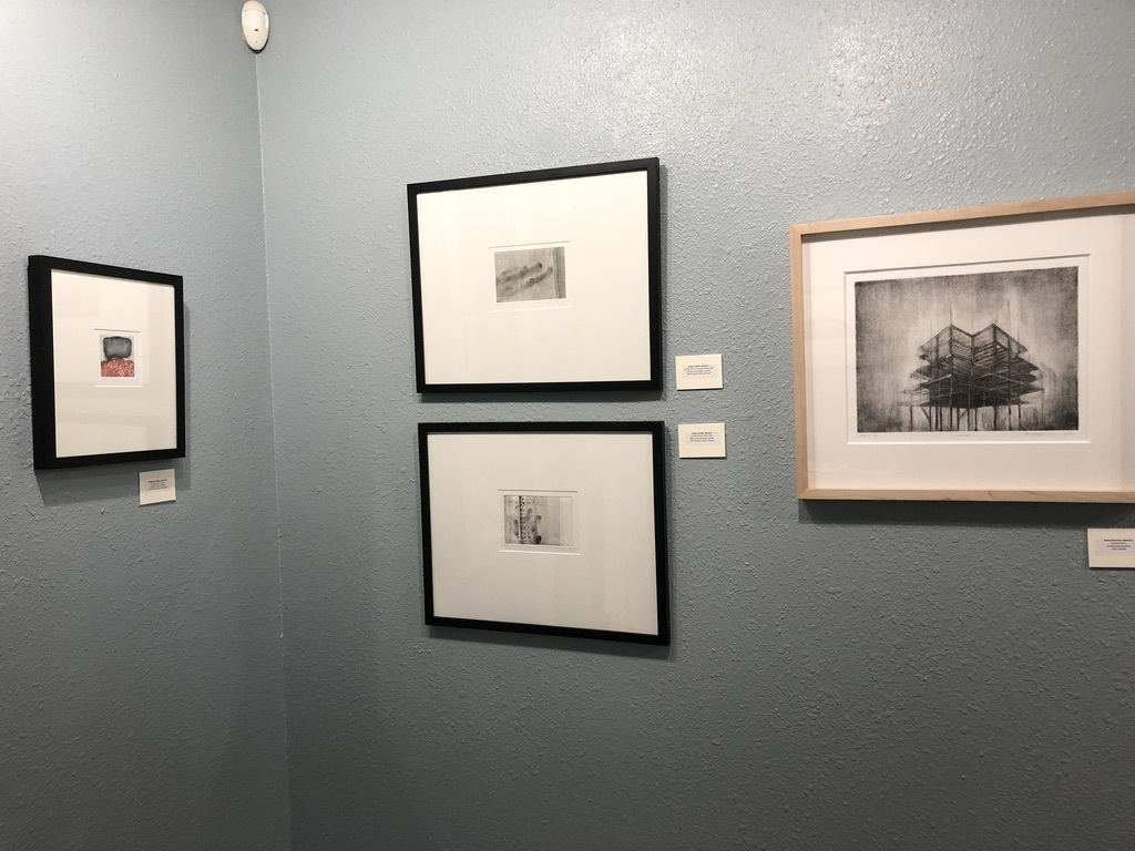 Blue gallery, northeast corner and east wall