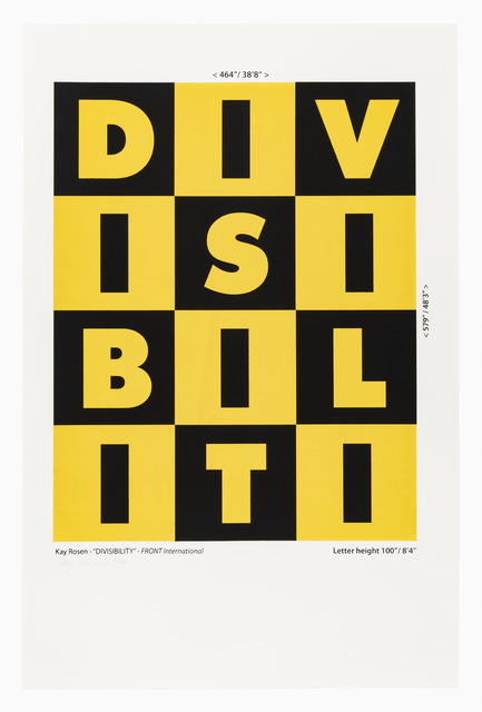 , '      KAY ROSEN (American, born 1943)       DIVISIBILITY, 1987/2018,' 1987, The Bonfoey Gallery