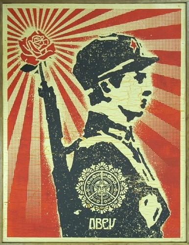 Shepard Fairey, 'Rose Soldier on Wood', 2006, EHC Fine Art