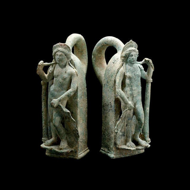 Unknown Roman, 'Pair of Roman Bronze Chariot Handles in the Form of Venus', 1st Century AD to 3rd Century AD, Barakat Gallery