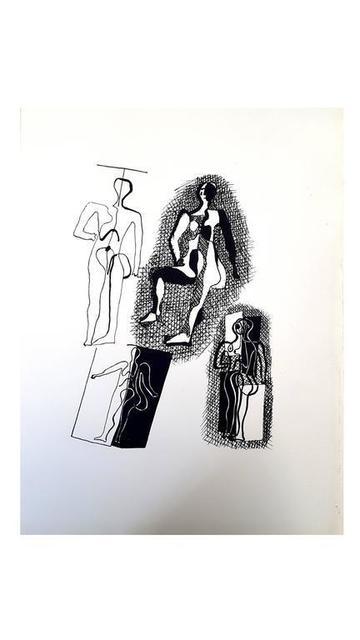 """Pablo Picasso, 'Etching """"Hélène chez Archimède III"""" after Pablo Picasso', 1955, Galerie Philia"""