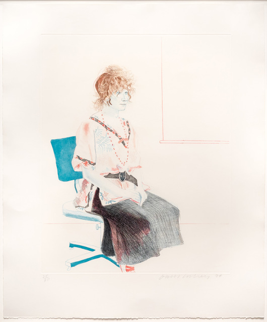 David Hockney, 'Celia Seated on an Office Chair', 1974, Leslie Sacks Gallery