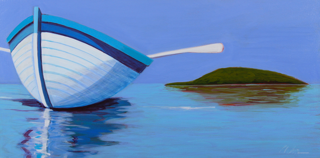 Melissa Chandon, 'Summer Boat with Island View', 2017, Painting, Acrylic on canvas, Tasende Gallery