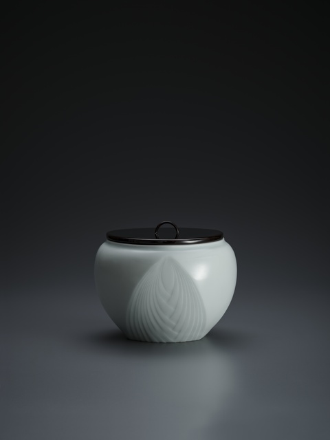 , 'Sculpted Blue-White Porcelain Cold Water Container with Overlapping Neck Band Pattern,' 2015, Onishi Gallery