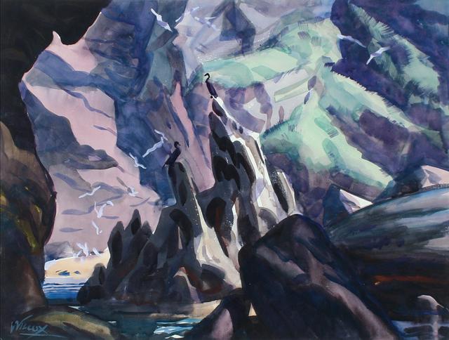 , 'Bird Sanctuary, Bonaventure Island, Canada,' ca. 1929, WOLFS