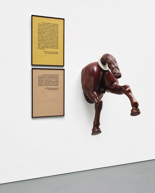 Jean-Michel Alberola, 'La Joconde', 1985, Installation, Bronze with patina and printed text on paper, Phillips
