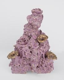 Tulip Vase (Lavender and Gold)