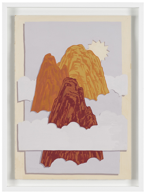 , 'Three Peaks and Sun,' 2013, Michel Rein Paris/Brussels