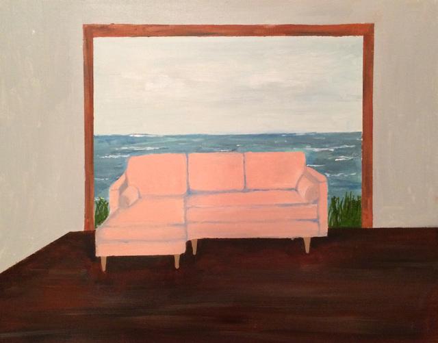 , 'Pink Chair in Ocean,' 2017, Tillou Fine Art