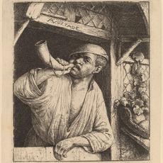 Adriaen van Ostade, 'Baker Sounding His Horn', probably 1664, National Gallery of Art, Washington, D.C.