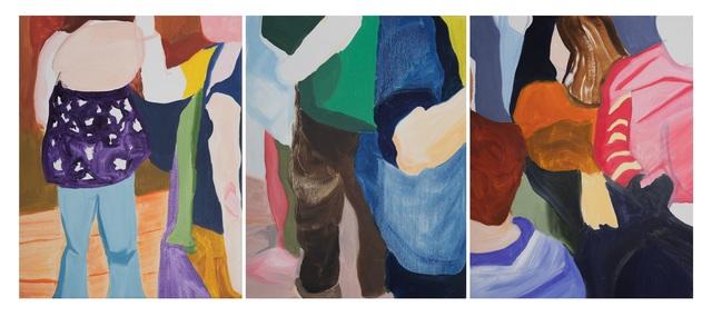 , 'Crowded triptych,' 2016, OSME Gallery