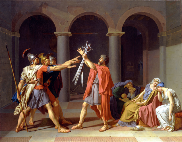 Jacques-Louis David | Oath of the Horatii (1784-1785) | Artsy Oath Of The Horatii