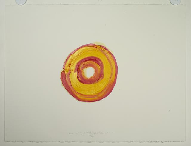 """, '2011.12.8 d'après """"La rétine de l'artiste. Illusion d'optique créée par la maladie oculaire"""" (1930) de E. Munch (Séchoir à dessin),' 2011, Galerie Nathalie Obadia"""