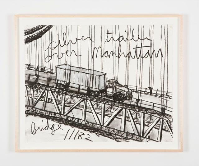 Kate Ericson and Mel Ziegler, 'Untitled (Silver trailer over Manhattan bridge)', 1982, Perrotin