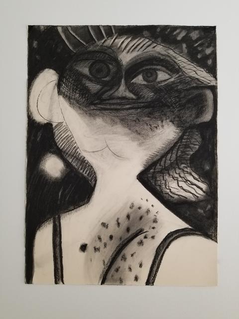 Dana Schutz, 'Night', 2019, Charcoal on paper, MOCA Cleveland Benefit Auction