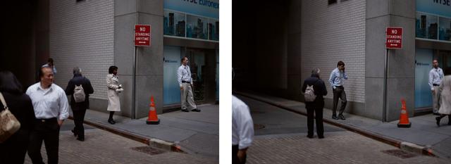Paul Graham, 'Wall Street, 19th April 2010, 12.46.55 pm (diptych)', 2010, Photography, C-Print, Galerie Les filles du calvaire