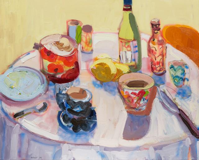 , 'Wine and Lemons,' 2019, Edwina Corlette Gallery