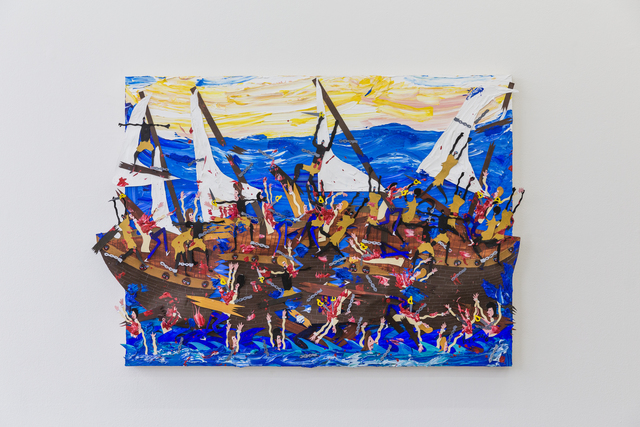 , 'Abandon ship, abandon ship!!!! The night people are doing a nighttime siege,' 2018, V1 Gallery