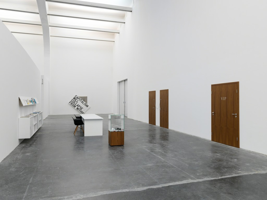 "Installation view of ""Elmgreen & Dragset: The Well Fair"" Photo: Eric Gregory Powell. Courtesy Ullens Center for Contemporary Art"