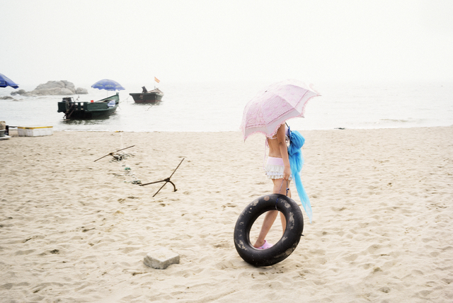 , 'Jour de plage,' 2014, galerie SIT DOWN