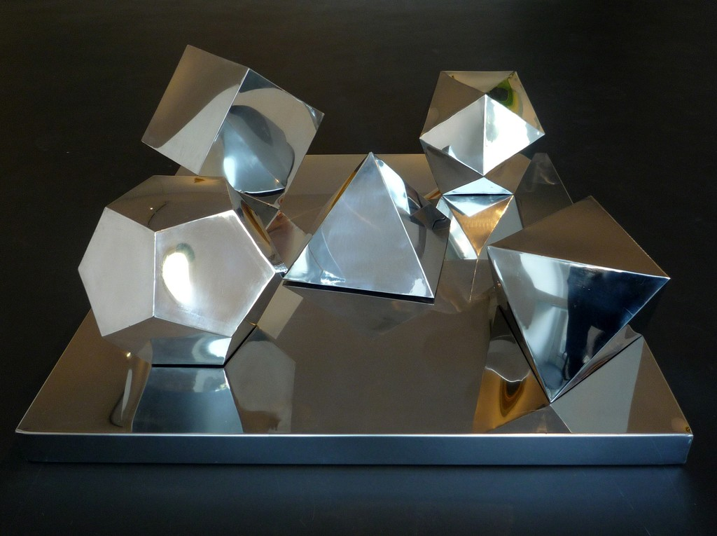 Solidi Platonici, 2014, steel fusion, 100x100 cm