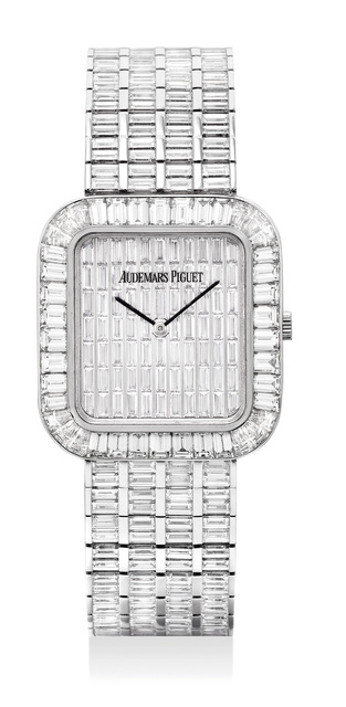 Audemars Piguet, 'A magnificent and exceptionally rare white gold with baguette diamond-set bracelet watch with baguette diamond dial', Circa 2005, Phillips