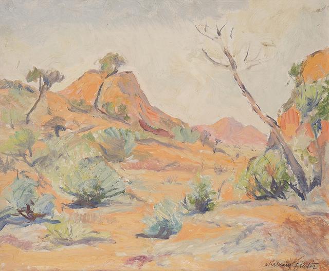 , '(MacDonnell Ranges - Mount Zeil?),' ca. 1950, Charles Nodrum Gallery