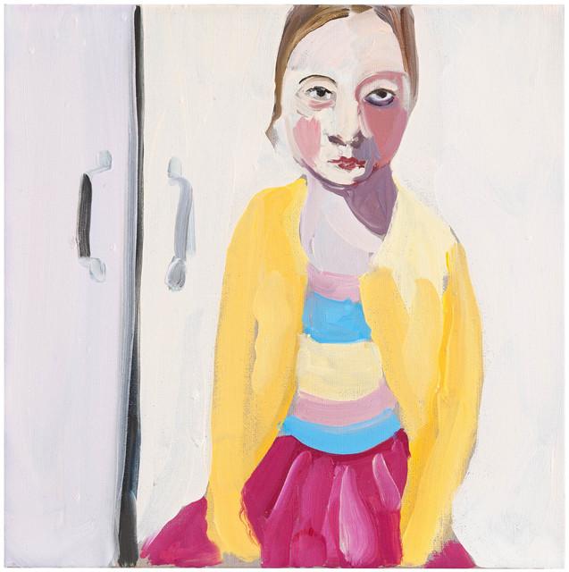 , 'Bella in a Yellow Cardigan,' 2013, Galerie Forsblom
