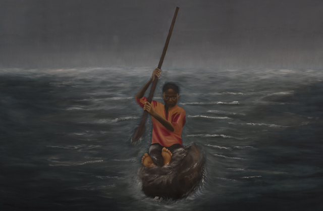 Solomon Adufah, 'The Murmuring of Deep and Hidden Waters', 2018, Galerie Frank Pages