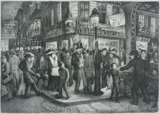 Glenn O. Coleman, 'The Bowery', 1928, Phillips Collection
