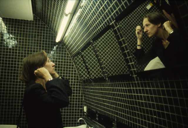 , 'Suzanne in the Green Bathroom, Pergamon Museum, East Berlin,' 1984, Cantor Fitzgerald Gallery, Haverford College