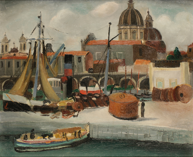 , 'On the Quay,' 1927, Osborne Samuel