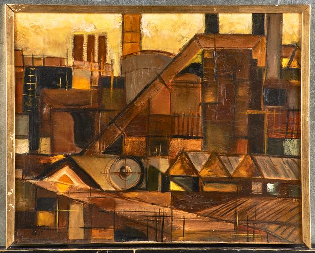 Werner Drewes, 'Untitled (Industrial Landscape)', 1952, Rago/Wright